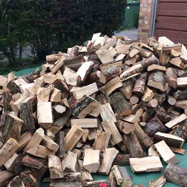 Delivery load of cut logs Cambridgeshire